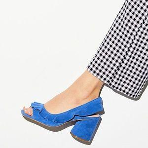 NWT ANTHROPOLOGIE Nomble Ruffled Slingback Heels
